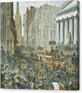 Bank Panic, 1884 Canvas Print