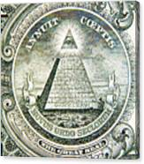 Banknote Detail Canvas Print