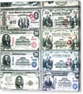 Banknotes Canvas Print