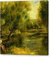 Banks Of The River Canvas Print