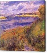 Banks Of The Seine At Champrosay Canvas Print