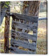 Bannack Gate At Sunrise Canvas Print