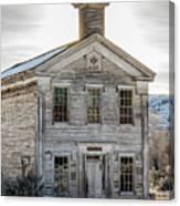 Bannack Schoolhouse And Masonic Temple Canvas Print