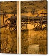 Bannack Wagon Reflections Canvas Print