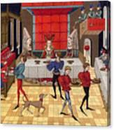 Banquet, 15th Century Canvas Print