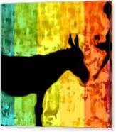 Bansky In Colors Canvas Print