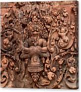 Banteay Srei Bas Relief Carvings - Cambodia Canvas Print