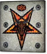 Baphomet - Satanic Pentagram - 666 Canvas Print