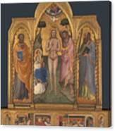 Baptism Altarpiece Canvas Print