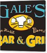 Bar And Grill Sign Canvas Print