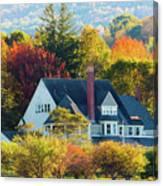 Bar Harbor Autumn House Canvas Print