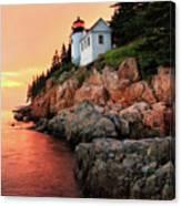 Bar Harbor Light House Canvas Print