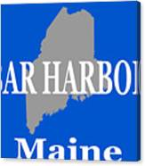 Bar Harbor Maine City And Town Pride  Canvas Print
