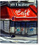 Bar Les 3 Quartiers Canvas Print
