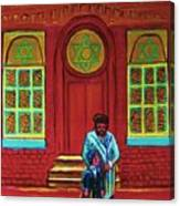 Bar Mitzvah Lesson At The Synagogue Canvas Print