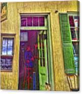 Bar Scene French Quarter New Orleans Canvas Print