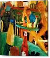 Bar Tables On Deck Canvas Print