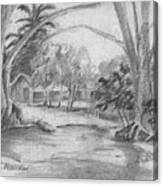 Bara De Navidad Farmhouse Canvas Print
