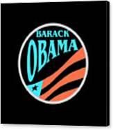 Barack Obama Design Canvas Print
