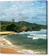 Barbados Beach Canvas Print