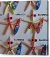 Barbados Starfish  Surfers Canvas Print