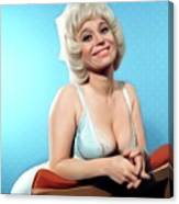 Barbara Windsor, Carry On Star Canvas Print