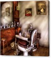 Barber - In The Barber Shop  Canvas Print