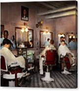 Barber - Senators-only Barbershop 1937 Canvas Print