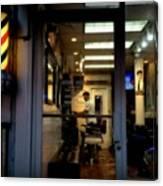 Barber Shop At Closing Time Canvas Print