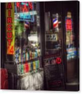 Barber Shop - Haircut 14 Dollars Canvas Print