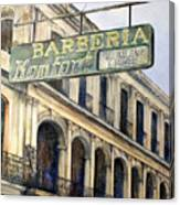 Barberia Konfort Canvas Print