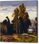Barbizon Landscape Canvas Print