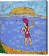 Barb's Beach Waving Canvas Print