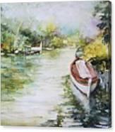 Barcas En La Albufera II Canvas Print