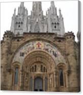 Barcelona - Temple Expiatori Del Sagrat Cor Canvas Print