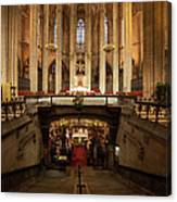 Barcelona Cathedral High Altar And St Eulalia Crypt Canvas Print