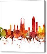 Barcelona Cityscape 04 Canvas Print