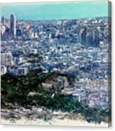 Barcelona Desde El Tibidabo Canvas Print