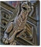 Barcelona Dragon Gargoyle Canvas Print