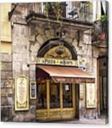 Barcelona Pizzeria Canvas Print