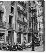 Barcelona Scooters Canvas Print