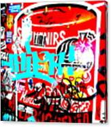 Barcelona Street Graffiti Canvas Print