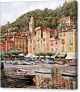 barche a Portofino Canvas Print
