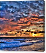 Barefoot Beach Sunset Canvas Print