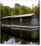 Barge House On The Erie Canal Canvas Print