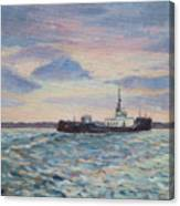 Barge On Port Phillip Bay Canvas Print