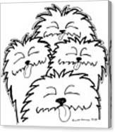 Bark Bark - Cute Dogs Canvas Print