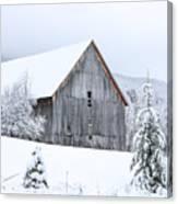 Barn After Snow Canvas Print