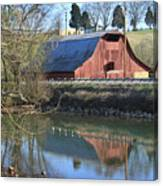 Barn And Reflections Canvas Print