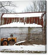 Barn And Tractor Canvas Print